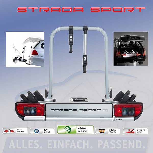 atera strada sport m2 fahrrad hecktr ger f r 2 fahrr der. Black Bedroom Furniture Sets. Home Design Ideas