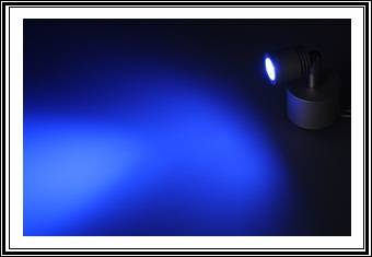 led spot deckenspot high power minispot strahler decke wand alu aufputz blau ebay. Black Bedroom Furniture Sets. Home Design Ideas