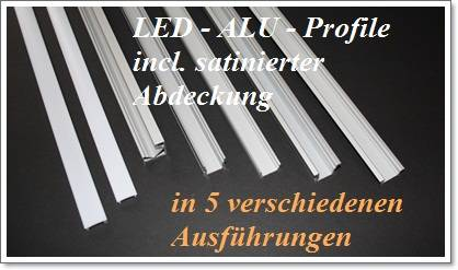 set alu profil eloxiert led beleuchtung einbau aufbau abdeckung streifen trafo ebay. Black Bedroom Furniture Sets. Home Design Ideas