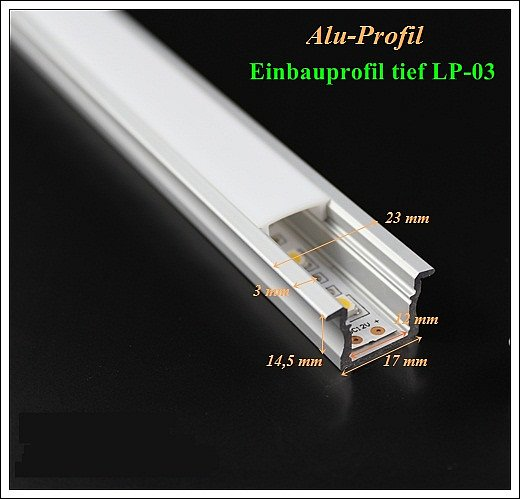 led profil einbauprofil m bel podest treppenstufen einbau beleuchtung wand decke ebay. Black Bedroom Furniture Sets. Home Design Ideas