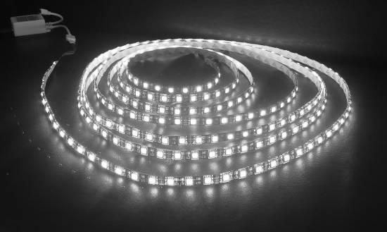 LED Strips Streifen 5m meter 300 SMD WEISS wasserdicht außen ...