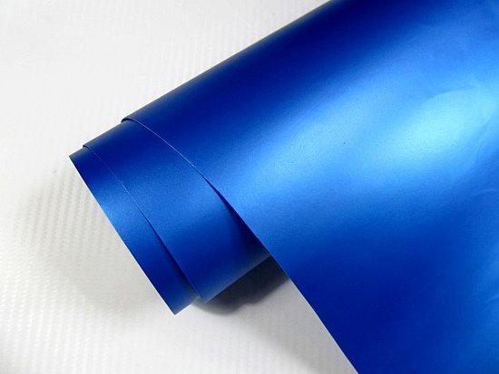 auto folie blau metallic matt 1000 x 152 cm 6 00 qm inkl. Black Bedroom Furniture Sets. Home Design Ideas