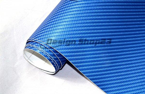 6 2 m 4d carbon folie blau metallic 300 x 152 cm flexibel auto klebe folie ebay. Black Bedroom Furniture Sets. Home Design Ideas