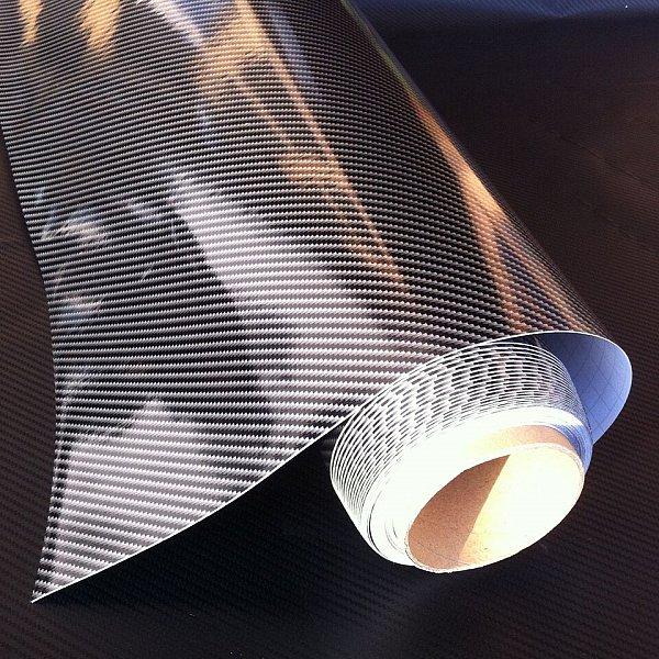 auto folie 2d carbon folie schwarz 2d 30 x 152cm. Black Bedroom Furniture Sets. Home Design Ideas