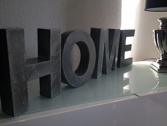 toller schriftzug home silber aufsteller buchstaben zink. Black Bedroom Furniture Sets. Home Design Ideas
