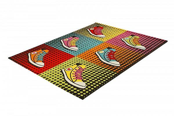 designer teppich flach gewebt prime 208 000 sneakers. Black Bedroom Furniture Sets. Home Design Ideas