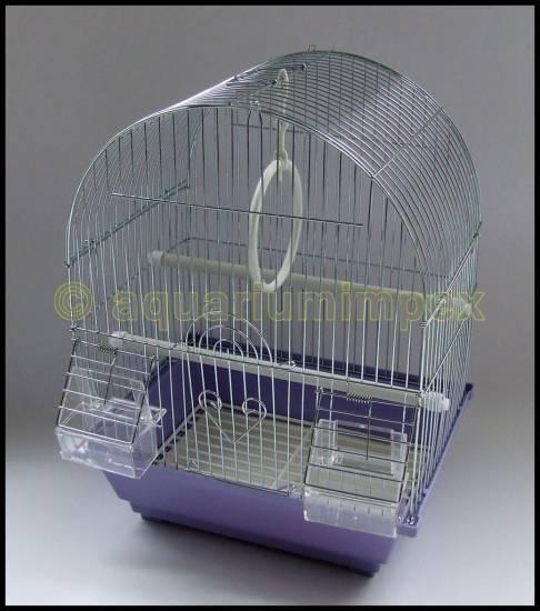 vogelk fig wellensittich k fig lila chrom ebay. Black Bedroom Furniture Sets. Home Design Ideas