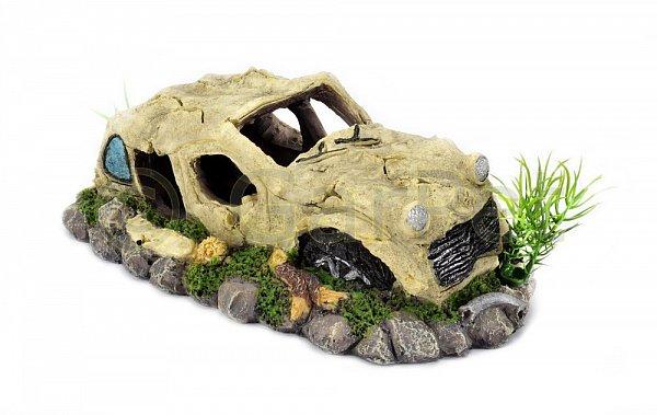 aquarium deko auto gel ndewagen jeep off road autowrack wrack 20 cm gro. Black Bedroom Furniture Sets. Home Design Ideas