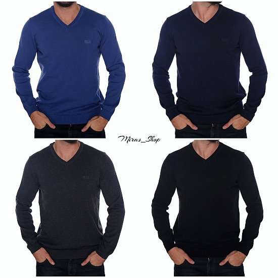 hugo boss herren pullover v neck sweater v ausschnitt slim fit versch. Black Bedroom Furniture Sets. Home Design Ideas