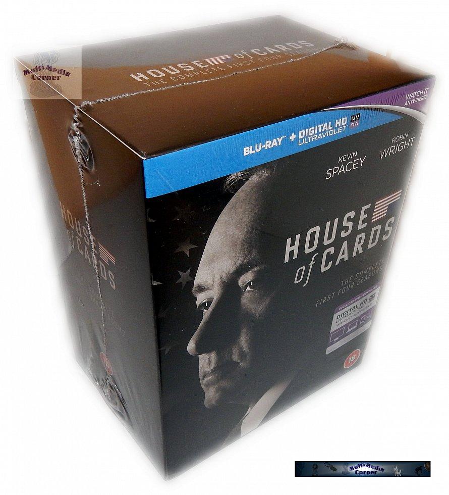 House of Cards Die komplette Staffel/Season 1-4 [Blu-Ray] Box-Set