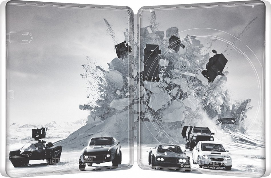 Fast and the Furious 8 [Blu-Ray] limited Steelbook [Innenansicht]