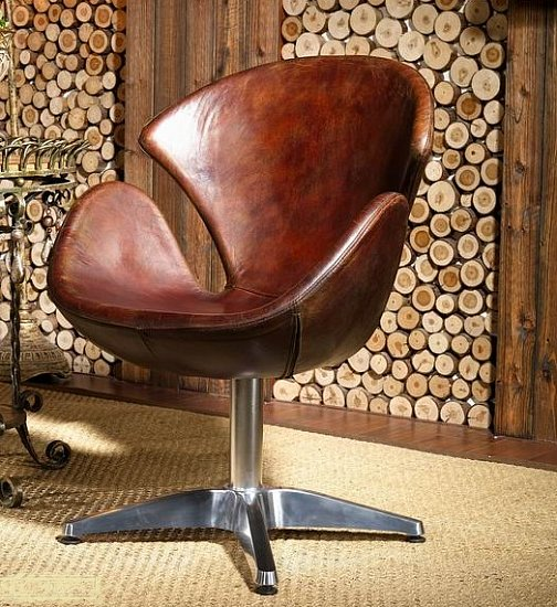 echtleder egg swan chair sessel ledersessel design leder vintage clubsessel 435 ebay. Black Bedroom Furniture Sets. Home Design Ideas