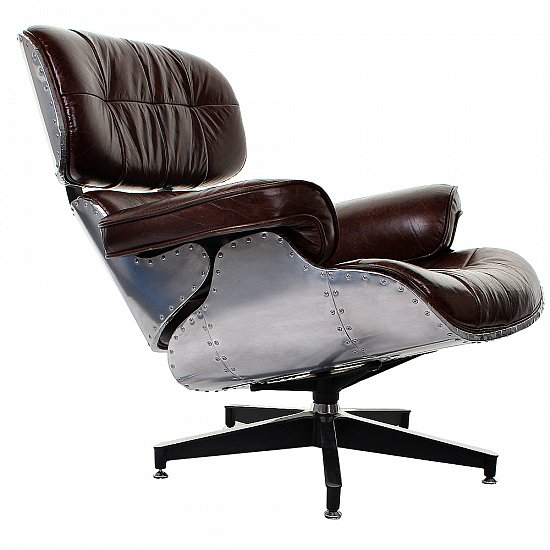 Vintage real leather chair leather armchair industrial for High chair net catcher