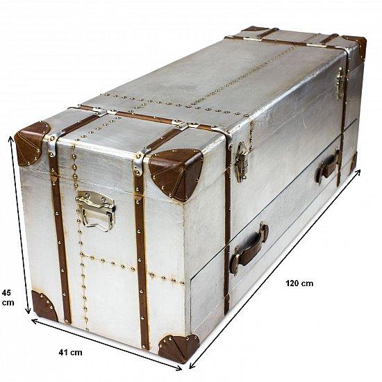 aviator industrial design vintage aluminum chest sideboard. Black Bedroom Furniture Sets. Home Design Ideas