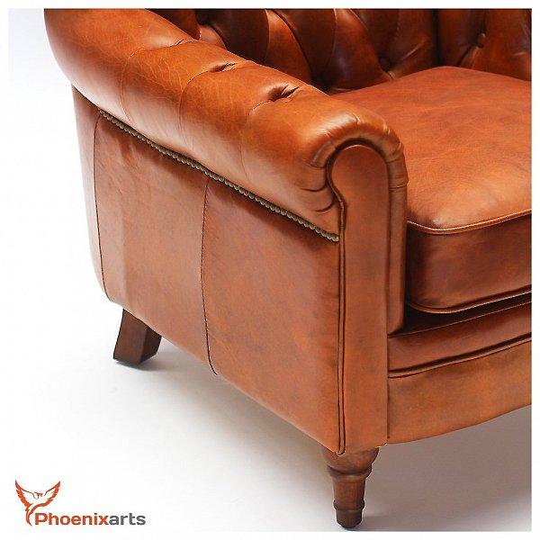 vintage echtleder chesterfield ledersessel leder. Black Bedroom Furniture Sets. Home Design Ideas