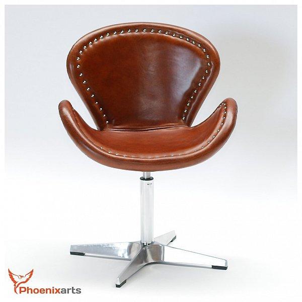 Vintage fauteuil en cuir oeufs chaise aluminium chaise pivotante cuir v ritab - Chaise en cuir veritable ...