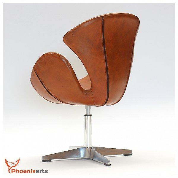 Vera pelle retr poltrona vintage in design sedia girevole for Poltrona design ebay