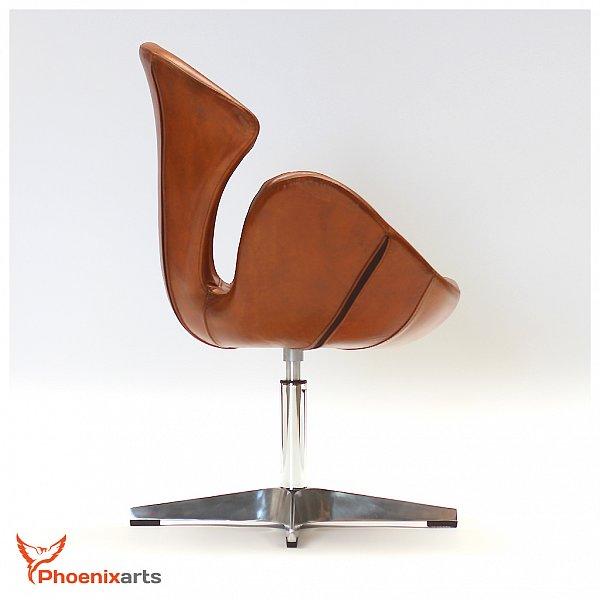echtleder egg swan chair sessel ledersessel design leder vintage loft stuhl 535 ebay. Black Bedroom Furniture Sets. Home Design Ideas