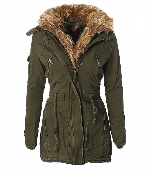 damen warme parka winter jacke mantel outdoor wintermantel kunst fell kapuze 635 ebay. Black Bedroom Furniture Sets. Home Design Ideas