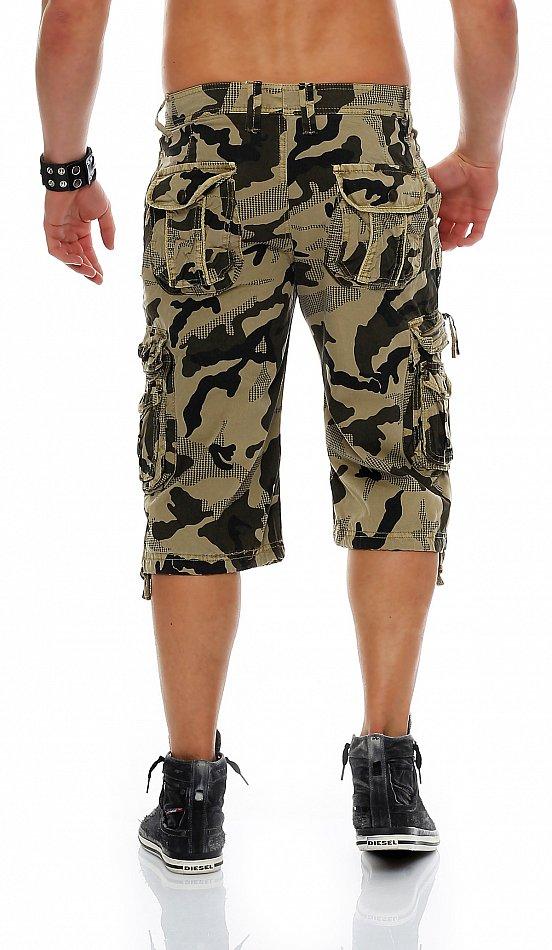 herren shorts kurze capri hose sommer 3 4 bermuda camouflage army camo cargo 611 ebay. Black Bedroom Furniture Sets. Home Design Ideas