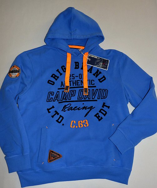 camp david hoodie blau