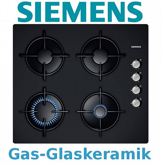siemens gaskochfeld glaskeramik kochfeld gas schwarz. Black Bedroom Furniture Sets. Home Design Ideas