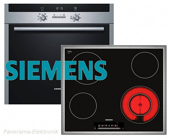 siemens herdset autark backofen umluft glaskeramik. Black Bedroom Furniture Sets. Home Design Ideas