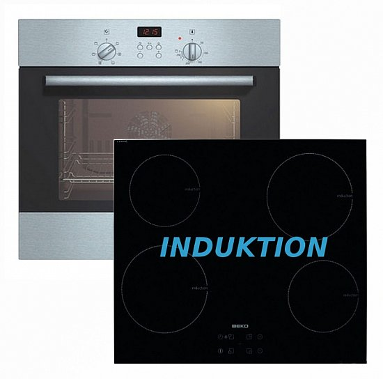 herdset induktion bosch einbau backofen beko induktion glaskeramik kochfeld neu ebay. Black Bedroom Furniture Sets. Home Design Ideas