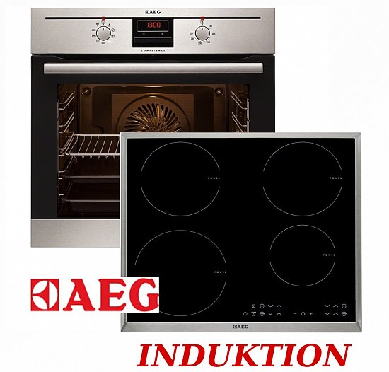 Herd set induktion aeg autark backofen induktionskochfeld for Backofen mit induktion