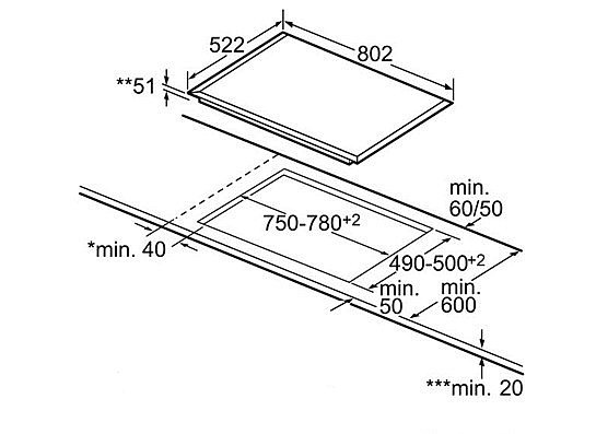 bosch pvs851 kochfeld induktion 80cm facette touchcontrol. Black Bedroom Furniture Sets. Home Design Ideas