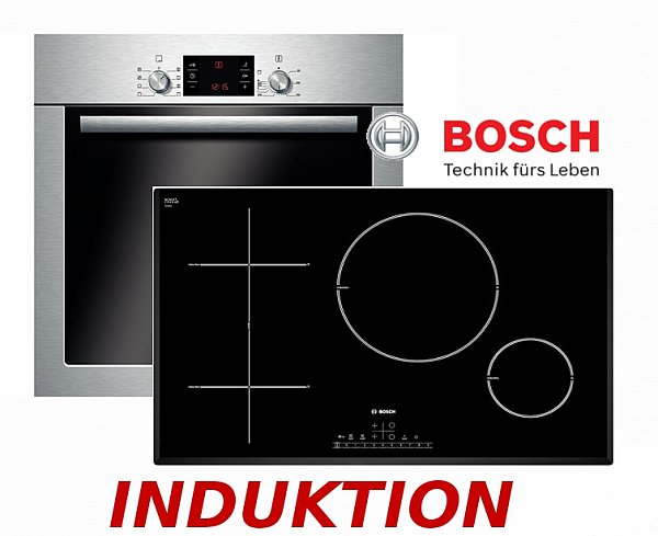 bosch herdset induktion autark backofen induktion kochfeld 80cm breit neu ovp ebay. Black Bedroom Furniture Sets. Home Design Ideas