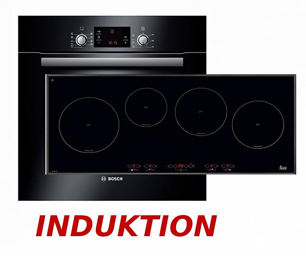 induktion herdset autark bosch backofen teka induktion kochfeld 90cm neuware ebay. Black Bedroom Furniture Sets. Home Design Ideas