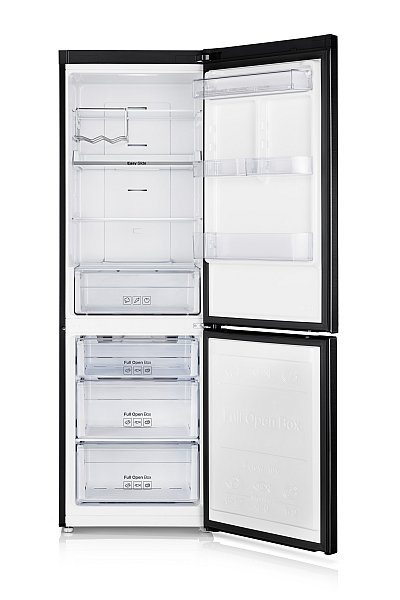 k hlschrank no frost 185cm k hl gefrier kombination schwarz samsung ebay. Black Bedroom Furniture Sets. Home Design Ideas