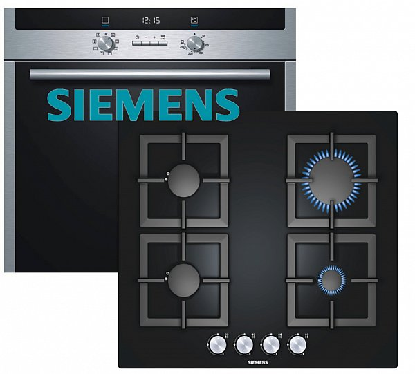 siemens gas herdset autark elektro backofen gas. Black Bedroom Furniture Sets. Home Design Ideas
