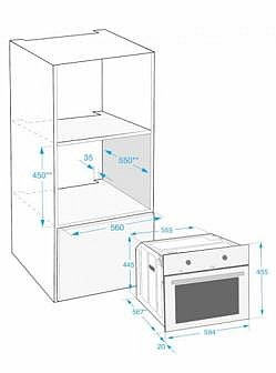 beko ocm25600x kompakt einbau backofen 45cm autark umluft grill einbauherd ofen. Black Bedroom Furniture Sets. Home Design Ideas
