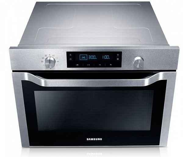 samsung kompakt 45cm einbau backofen 50l mit grill hei luft und mikrowelle neu ebay. Black Bedroom Furniture Sets. Home Design Ideas