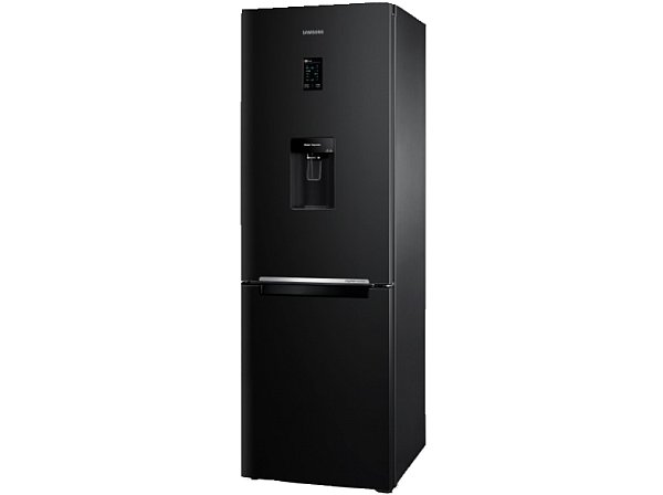 k hlschrank 185cm k hl gefrier kombination schwarz samsung mit wasserspender neu ebay. Black Bedroom Furniture Sets. Home Design Ideas