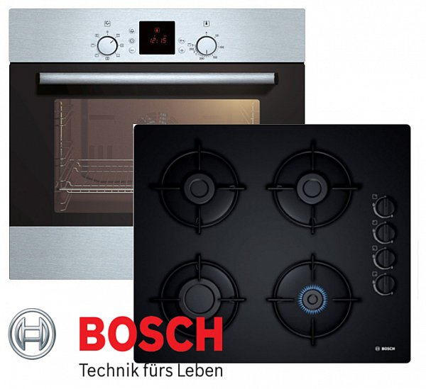 gas herd autark herdset bosch einbau elektro backofen umluft gas kochfeld neu ebay. Black Bedroom Furniture Sets. Home Design Ideas