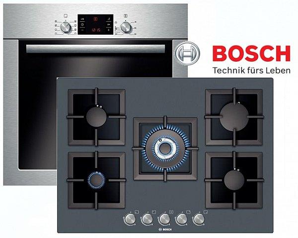 bosch gas herdset autark umluft elektro backofen gas kochfeld glaskeramik 71cm. Black Bedroom Furniture Sets. Home Design Ideas