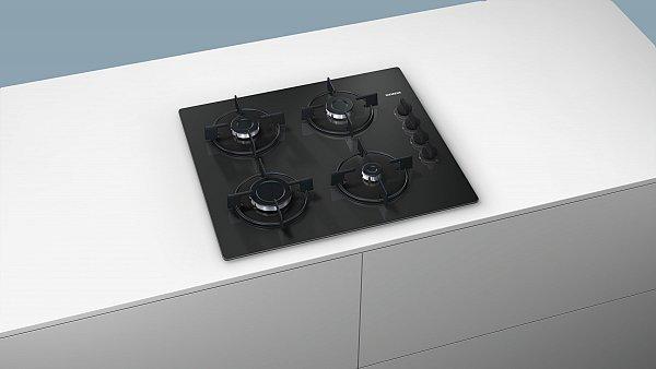 siemens eo6b6pb10 glaskeramik gas kochfeld schwarz autark. Black Bedroom Furniture Sets. Home Design Ideas