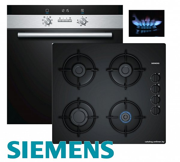 siemens gas herdset einbau autark elektro backofen gas. Black Bedroom Furniture Sets. Home Design Ideas