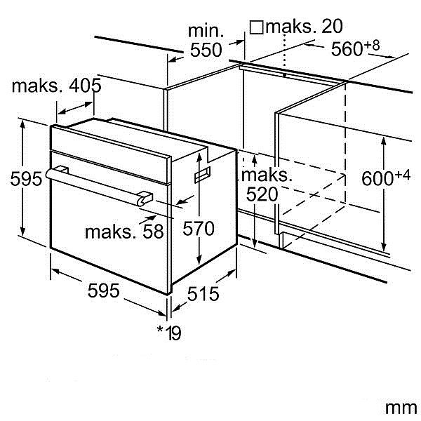 bosch elektro einbaubackofen selbstreinigung pyrolyse backofen schwarz herd neu ebay. Black Bedroom Furniture Sets. Home Design Ideas