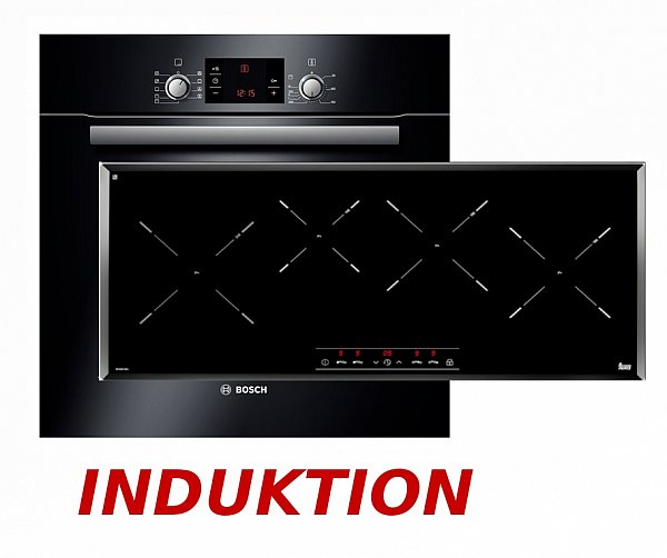 Induktion herdset autark bosch backofen teka induktion for Backofen mit induktion