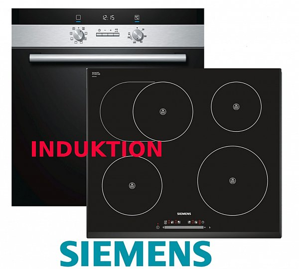 siemens herdset autark backofen induktion glaskeramik kochfeld br terzone neu ebay. Black Bedroom Furniture Sets. Home Design Ideas