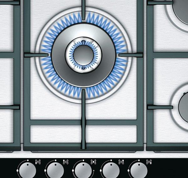 siemens einbau gas kochfeld 70cm autark gasfeld edelstahl wok brenner kochstelle ebay. Black Bedroom Furniture Sets. Home Design Ideas