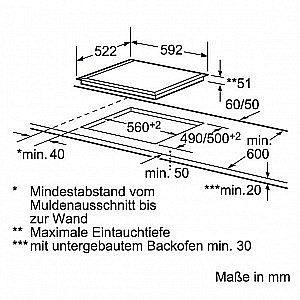 induktion herd set bosch einbau backofen induktion glaskeramik kochfeld neu. Black Bedroom Furniture Sets. Home Design Ideas
