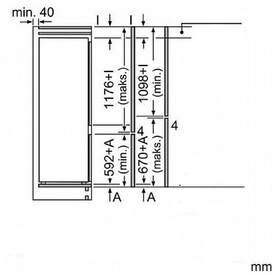 siemens ki87 einbau k hlschrank a mit gefrierfach 177cm. Black Bedroom Furniture Sets. Home Design Ideas