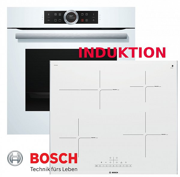 Herdset bosch autark weiss induktion backofen for Herdset induktion