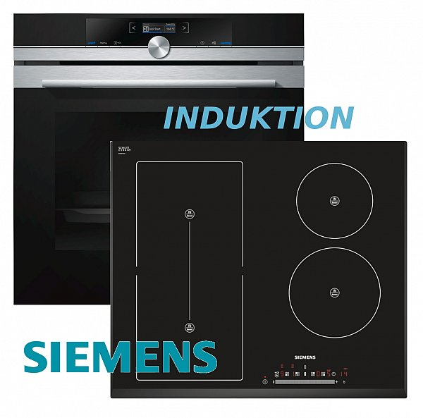 siemens herdset autark herd backofen autom pr induktion kochfeld flexi zone ebay. Black Bedroom Furniture Sets. Home Design Ideas