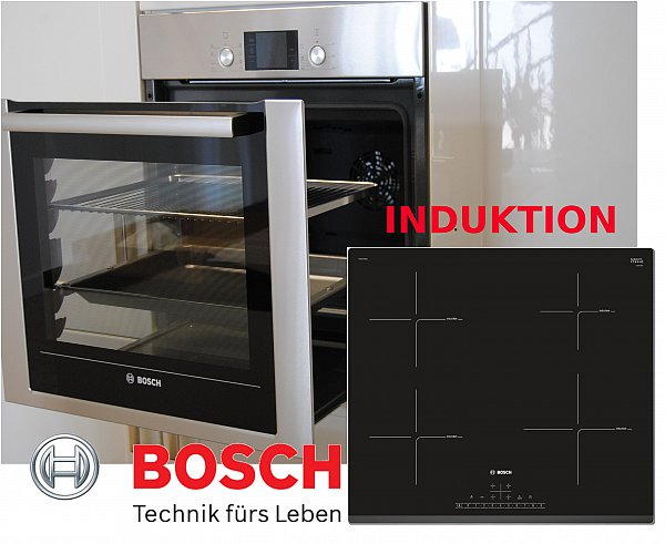 herdset induktion autark bosch backwagen backofen induktion glaskeramik kochfeld ebay. Black Bedroom Furniture Sets. Home Design Ideas